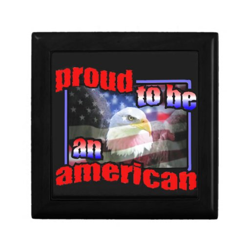 Proud to be an american jewelry box