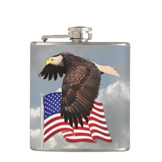 PROUD TO BE AN AMERICAN HIP FLASK