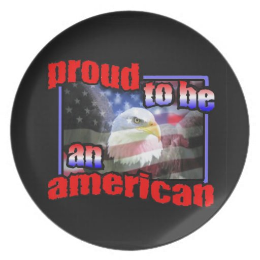 Proud to be an american dinner plate