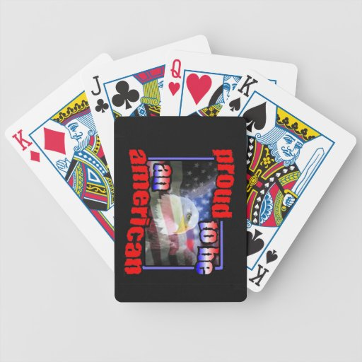Proud to be an american bicycle card decks