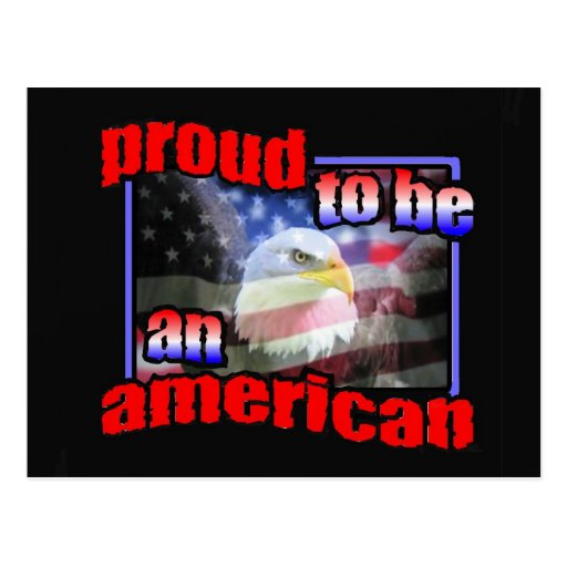 Proud to be an american postcards