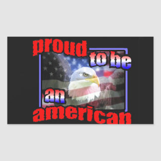 Proud to be an american stickers