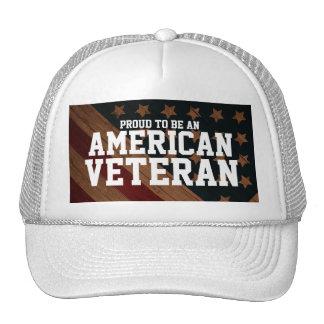 Proud to be an American Veteran customizable Hats
