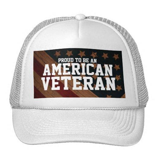"""Proud to be an American Veteran"" (customizable) Hats"