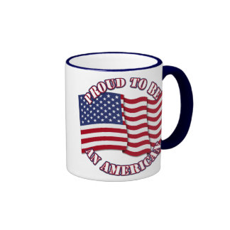 Proud To Be An American With USA Flag Mug
