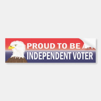 Proud to Be an Independent Voter Bumper Sticker
