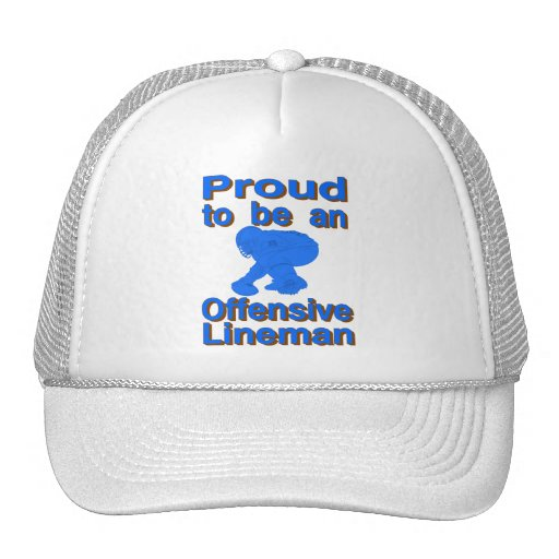 Proud to be an Offensive Lineman Mesh Hats