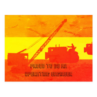 Proud to Be an Operating Engineer Southwest Colors Postcard