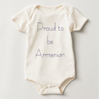Proud to be Armenian Baby Bodysuit