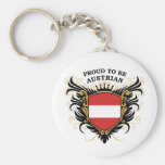 Proud to be Austrian Basic Round Button Key Ring
