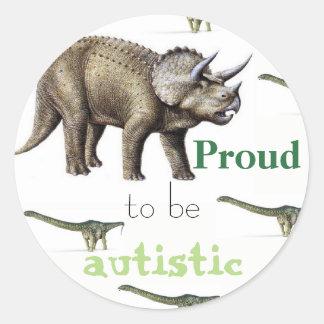 Proud to be autistic dinosaur sticker