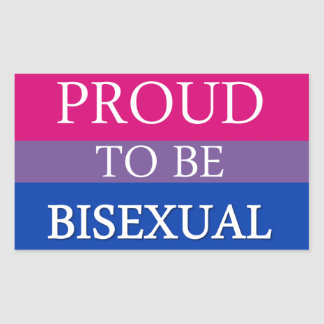 Proud To Be Bisexual Rectangular Sticker