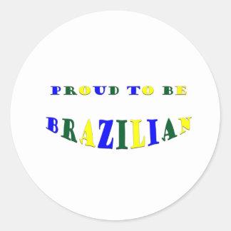 Proud to be Brazilian Sticker