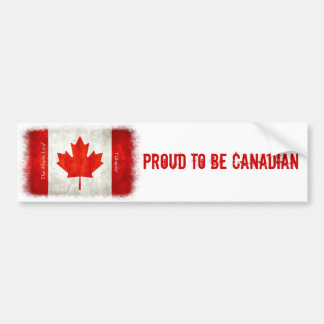 Proud to be Canadian - Flag Bumper Sticker
