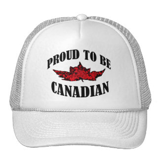 Proud To Be Canadian Hats