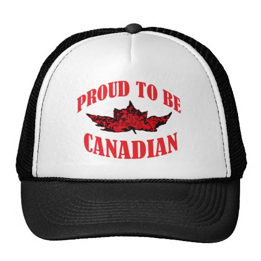 Proud To Be Canadian Mesh Hat
