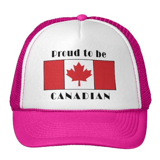 Proud To Be Canadian Mesh Hats