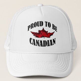Proud To Be Canadian Trucker Hat