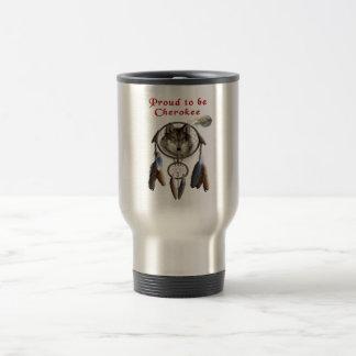proud to be cherokee travel mug