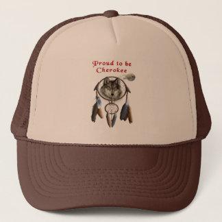 proud to be cherokee trucker hat