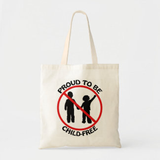 Proud to Be Child-Free Tote Budget Tote Bag
