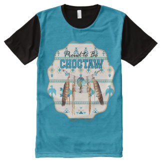 Proud to be Choctaw Thunderbird Panel T-shirt