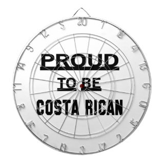 Proud to be Costa Rican. Dartboard With Darts
