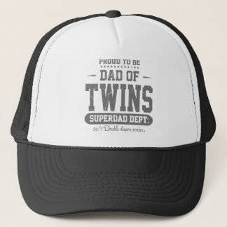 Proud To Be Dad Of Twins Superdad Dept. Cap