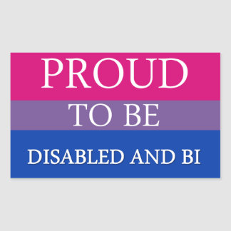 Proud to Be Disabled and Bi Rectangular Sticker
