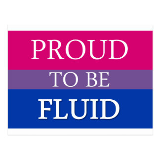 Proud to be Fluid Postcard