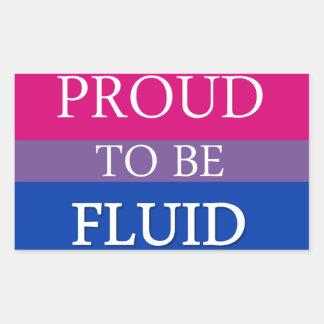 Proud to Be Fluid Rectangular Sticker