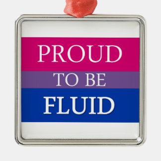 Proud to Be Fluid Silver-Colored Square Decoration