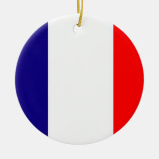 Proud to be French Flag Christmas Ornament