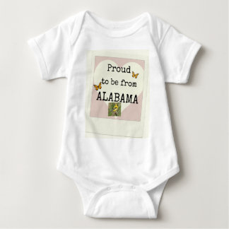 Proud to be from Alabama Baby Bodysuit