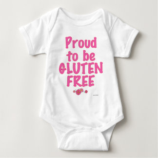 Proud to Be Gluten Free - Pink Baby Bodysuit