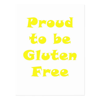 Proud to be Gluten Free Post Card