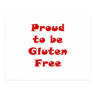Proud to be Gluten Free Post Cards