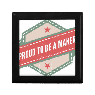 Proud to Be has Maker vintage logo Gift Box