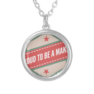 Proud to Be has Maker vintage logo Silver Plated Necklace