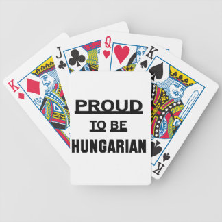 Proud to be Hungarian Bicycle Playing Cards
