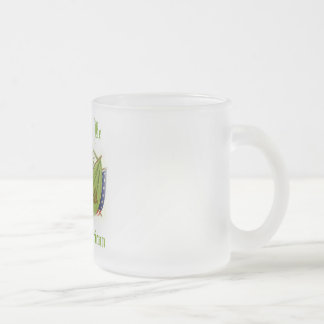 Proud To Be Irish American Frosted Glass Coffee Mug