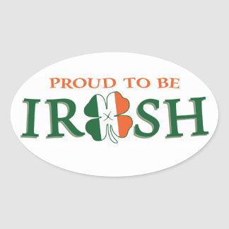 Proud to be Irish Oval Sticker