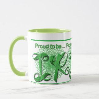 """Proud to be Irish"" Ribbon Holiday Typography Mug"