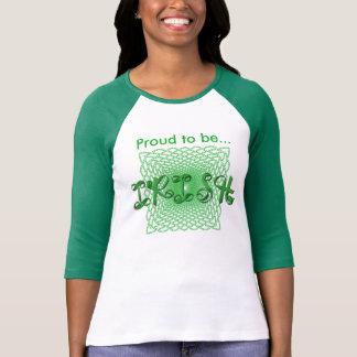 """Proud to be Irish"" Ribbon Holiday Typography Shirts"