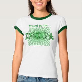 """Proud to be Irish"" Ribbon Holiday Typography Tee Shirts"