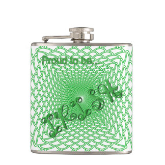 """Proud to be Irish"" Ribbon Holiday Typography Flasks"