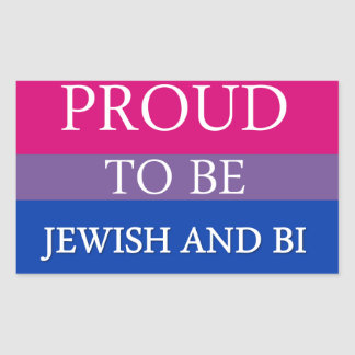 Proud To Be Jewish and Bi Rectangular Sticker