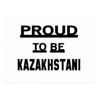 Proud to be Kazakhstani Postcard