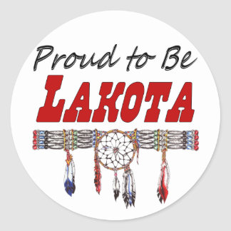 Proud To Be Lakota Decals or Stickers