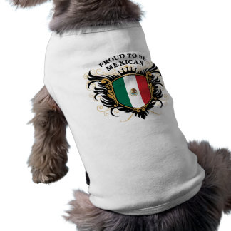 Proud to be Mexican Sleeveless Dog Shirt